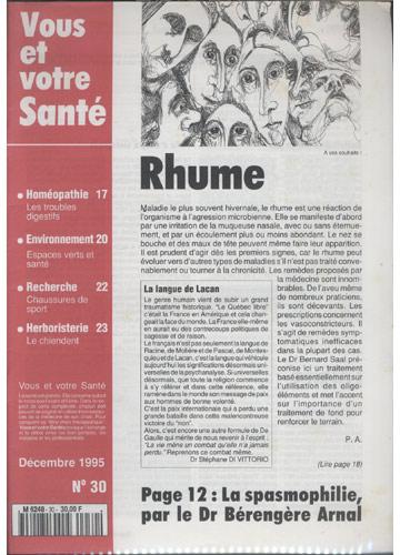 Vous Et Votre Santé - 1995 - Nº.30