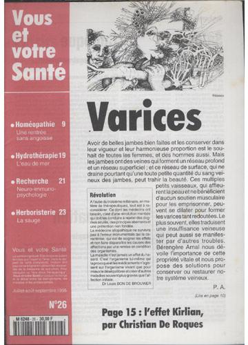 Vous Et Votre Santé - 1995 - Nº.26