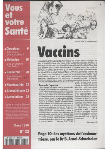 Vous Et Votre Santé - 1996 - Nº.33