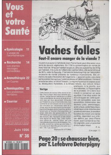 Vous Et Votre Santé - 1996 - Nº.36