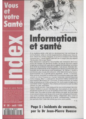 Vous Et Votre Santé - 1996 - Nº.38