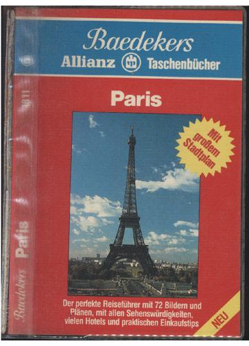 Baedekers - Allianz Taschenbücher - Paris - com Mapa