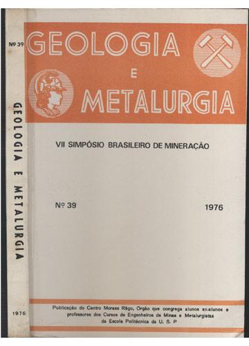 Geologia e Metalurgia - N°39 - 1976