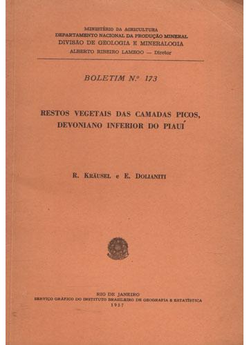 Boletim N°173 - Restos Vegetais das Camadas Picos Devoniano Inferior do Piauí