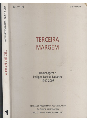 Terceira Margem - Ano XI - Nº17 - Julho/Dezembro - 2007