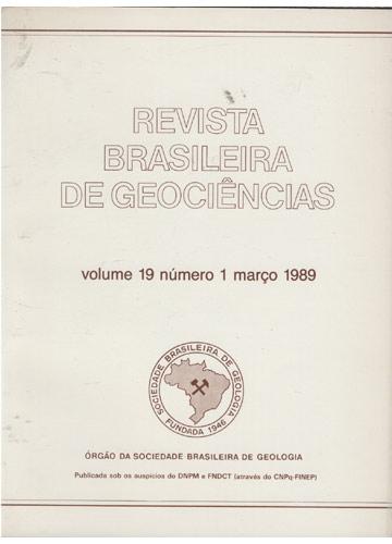Revista Brasileira de Geociências - Volume 19 - Número 1 - Março 1989