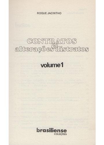 Contratos & Alterações Distratos - 6 Volumes