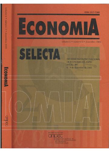 Economia - Volume 6 - Número 3 - Dezembro 2005