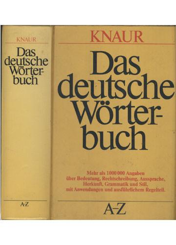 Das Deutsche Wörterbuch - A-Z