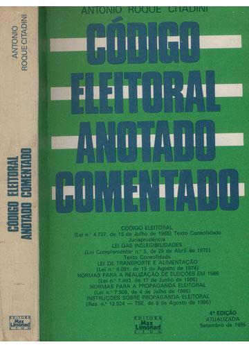 Código Eleitoral Anotado Comentado