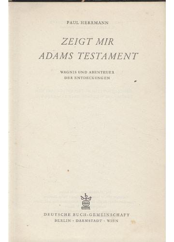 Zeigt Mir Adams Testament