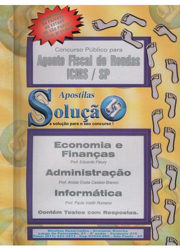 Concurso Público Para Agente Fiscal de Rendas - ICMS/SP