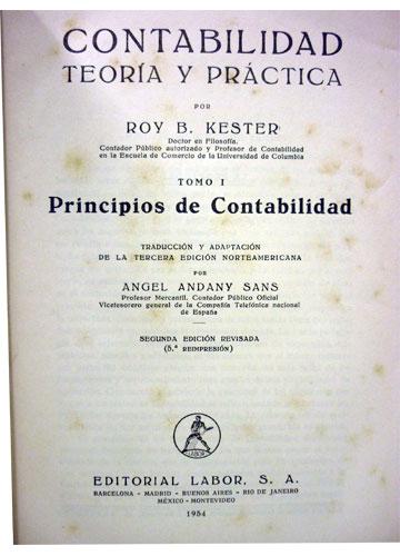 Contabilidad Teoria y Práctica - 4 Volumes