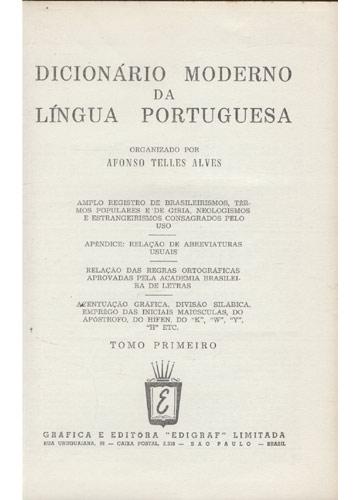 Dicionário Moderno da Língua Portuguesa - 2 Volumes