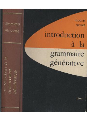 Introduction À La Grammaire Générative