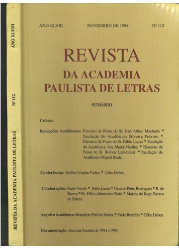 Revista da Academia Paulista de Letras - Nº.112 - Ano XLVIII