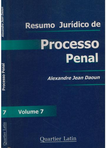 Resumo Jurídico de Processo Penal - Volume 7
