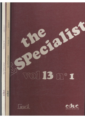 The Especialist - Volume 13 - Nº.1 / Volume 16 - Nº.2 - 2 Volumes