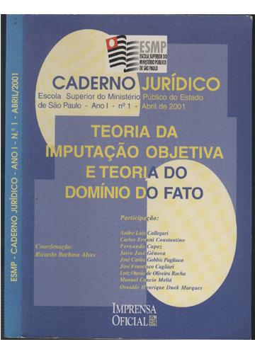 ESMP - Caderno Jurídico - Ano I - Nº.1 - Abril/2001