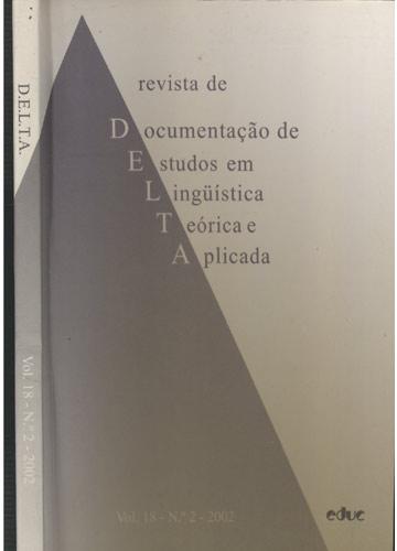 DELTA - Volume 18 - Nº.2 - 2002