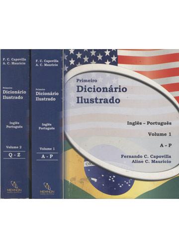 Primeiro Dicionário Ilustrado - Inglês - Português - 2 Volumes