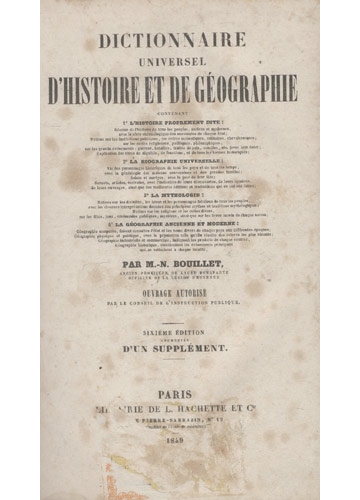 Dictionnaire Universel D'Histoire et de Géographie