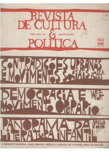 Revista de Cultura e Política - Nº.1 - Ano 1- Agosto de 1979