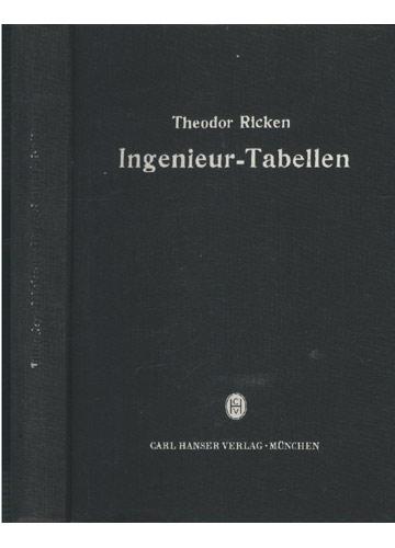 Ingenieur Tabellen
