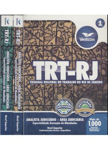 TRT-RJ - Analista Judiciário - Área Judiciária Especialidade Execução de Mandados - Nível Superior - 2 Volumes