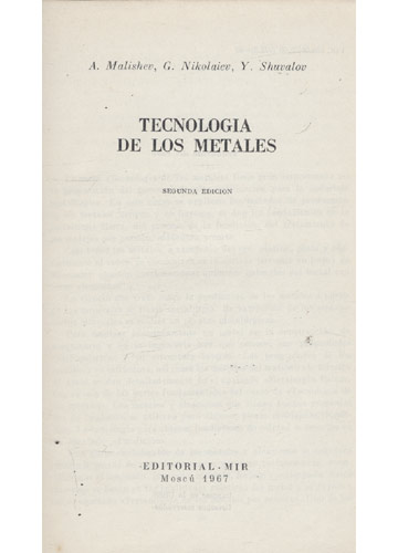 Tecnologia de los Metales
