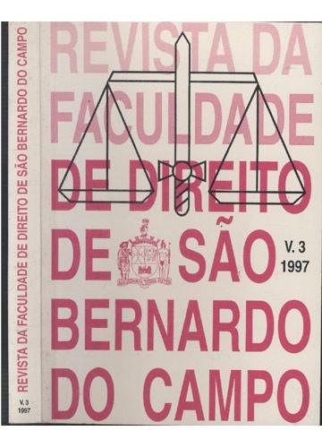 Revista da Faculdade de Direito de São Bernardo do Campo - Volume 3 - 1997