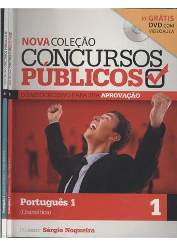 Nova Coleção Concursos Públicos - Português - 2 Volumes - Com 2 DVDs
