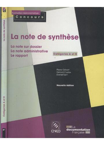 La Note de Synthèse - Catégories A et B