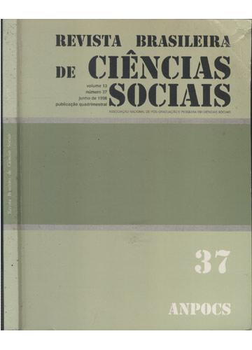 Revista Brasileira de Ciências Sociais - Volume 13 - Nº.37 -  Junho de 1998
