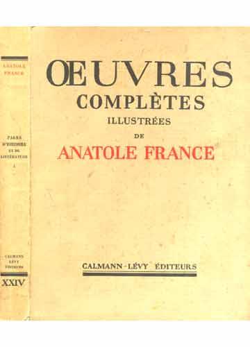 Pages d'Histoire et de Littérature - Oeuvres Complètes Illustrées de Anatole France - Tomo 24