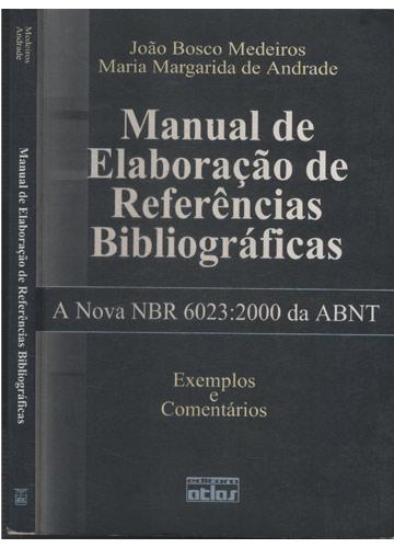 Livro - Manual de Elaboração de Referências Bibliográficas