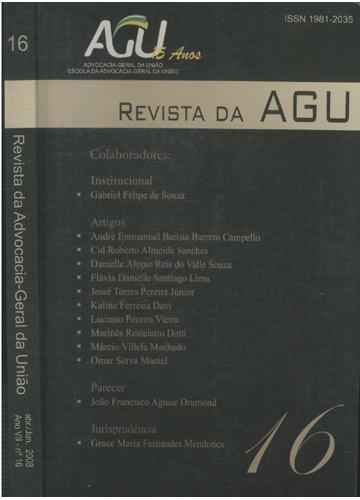Revista da Advocacia-Geral da União - Ano VII - Nº. 16 abr/jun 2008