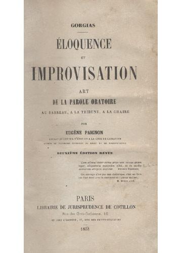 Élouquence et Improvisation