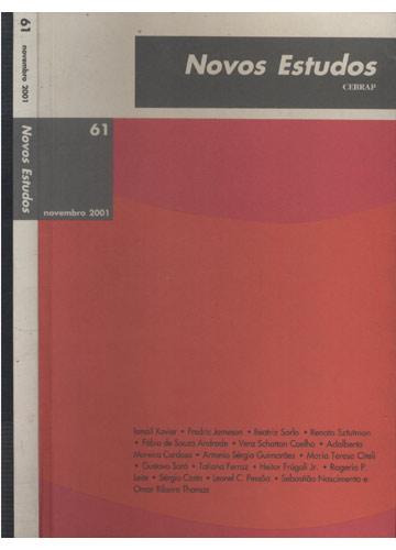 Novos Estudos - Cebrap - Nº 61 - Novembro 2001