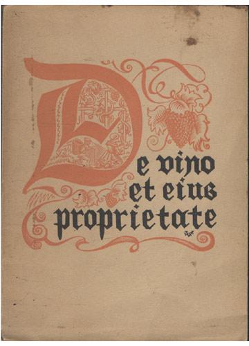 De Vino et Eius Proprietate