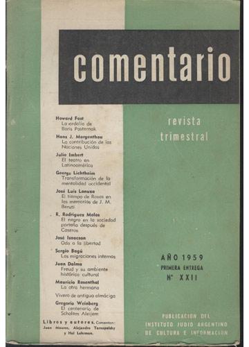 Comentario - Nº.22 - 1959