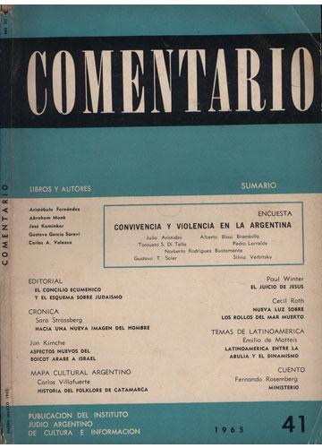 Comentario - Ano XII N.º 41 - Enero / Marzo 1965