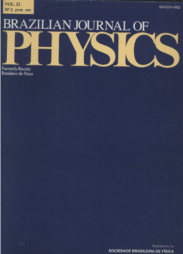 Brazilian Journal of Physics - Volume 22 - N 2 - June 1992