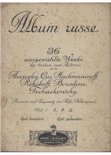 Album Russe - 36 Ausgewählte Werke (Partituras)