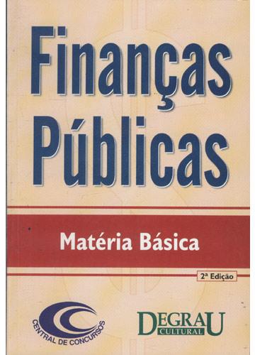 Finanças Públicas - Matéria Básica
