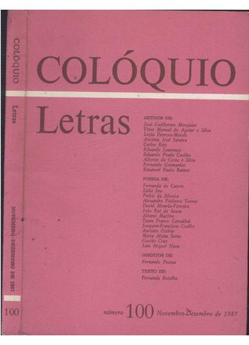 Colóquio - Letras - Número 100 - Novembro-Dezembro de 1987