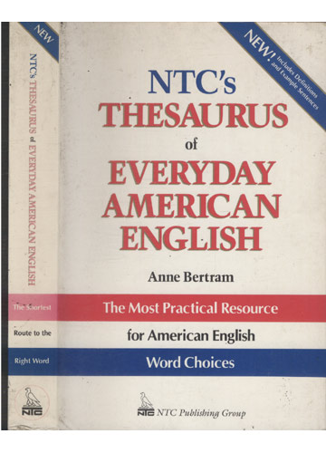 Ntc's Thesaurus of Everyday American English