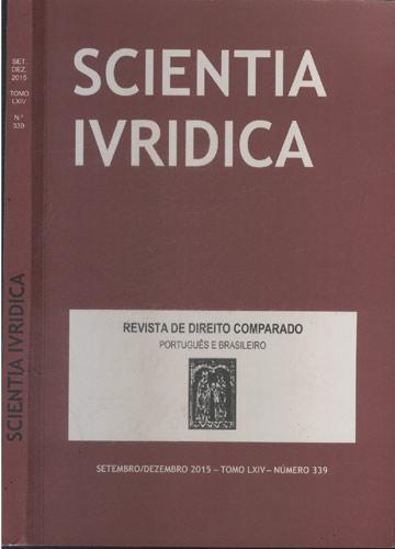 Scientia Ivridica - Setembro / Dezembro 2015 - Tomo LXIV - Número 339