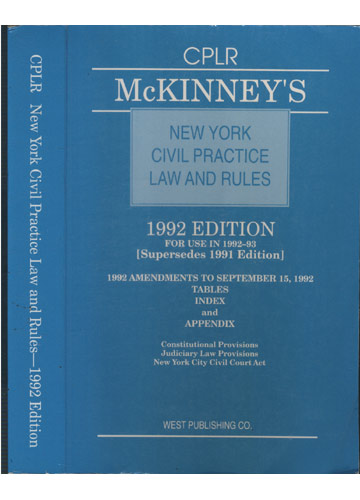CPLR - New York Civil Practice Law And Rules