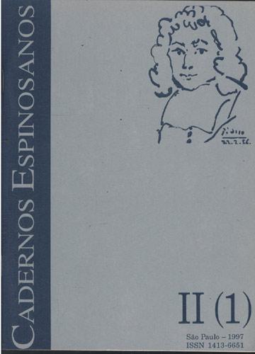 Caderno Espinosanos - Volume II - Tomo 1 - 1997